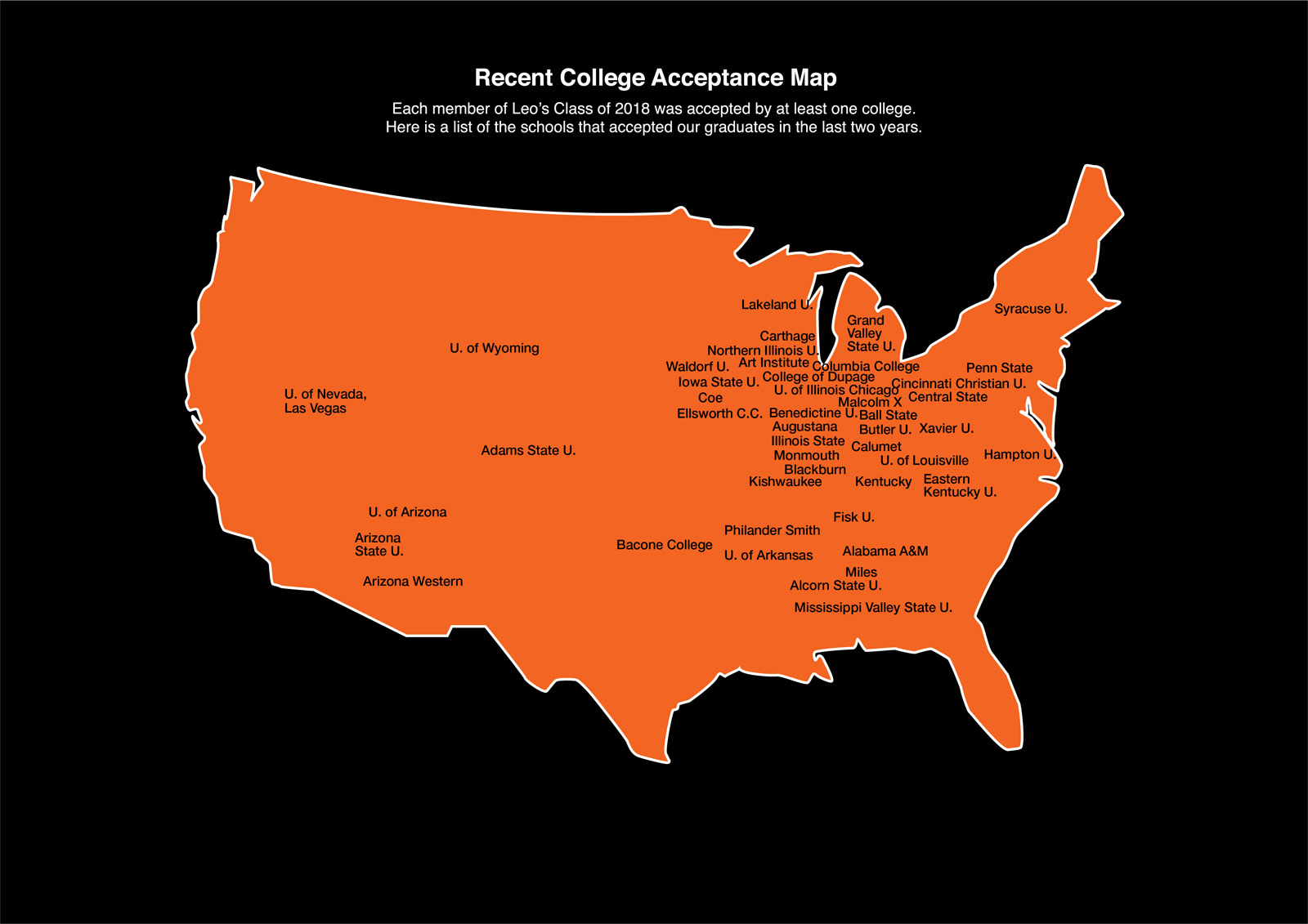 2018 College Map